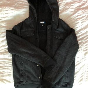 Tony Hawk fur-lined sweatshirt jacket